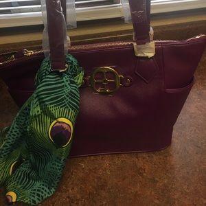 IMAN Purple Handbag